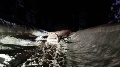 En fotos: así sepultó una avalancha a dos amigos en el norte de California