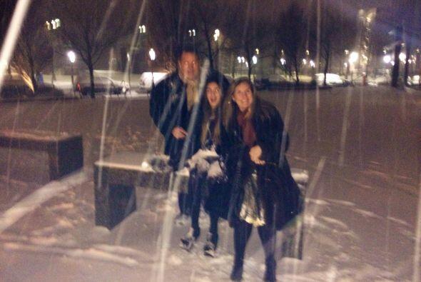 La nieve formó parte de sus vacaciones y la disfrutaron muchísimo, pues...