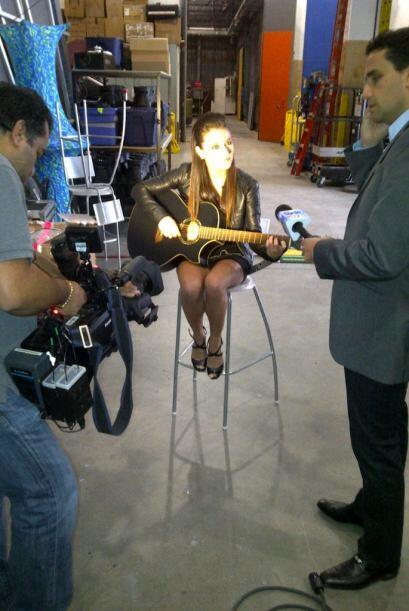 Minutos antes de la entrevista con Camilo Montoya para El Gordo y la Flaca.