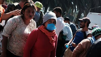Más de 1,500 migrantes de la caravana se encuentran en Mexicali a la espera de poder llegar a Tijuana