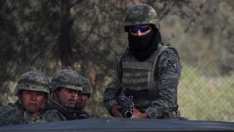 Despliegue policial en Tanhuato, Michoacán.