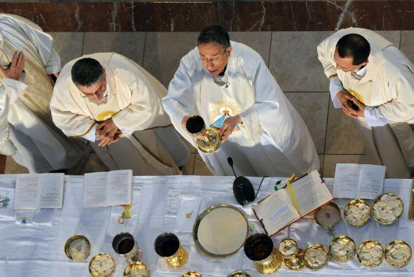 El arzobispo de Tegucigalpa, cardenal Oscar Andrés Rodríguez, celebró po...