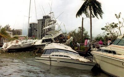 Se cumplen 25 años del devastador paso del huracán Andrew por el sur de...