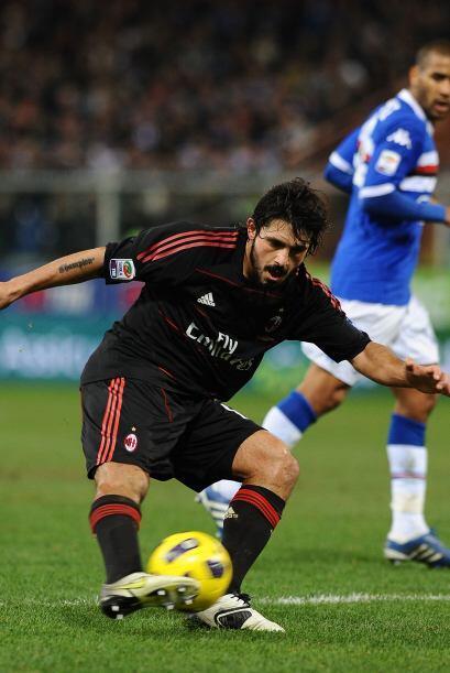 El interminable Gennaro Gattuso marcó los tiempos en la mitad de la canc...