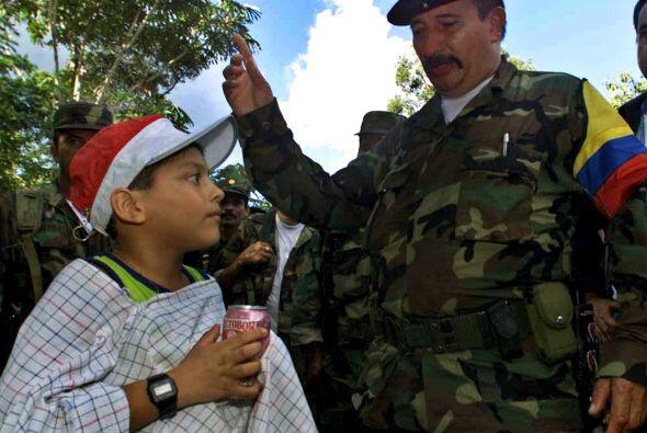 El jefe militar de las FARC, Jorge Briceño, alias Mono Jojoy, de 57 años...