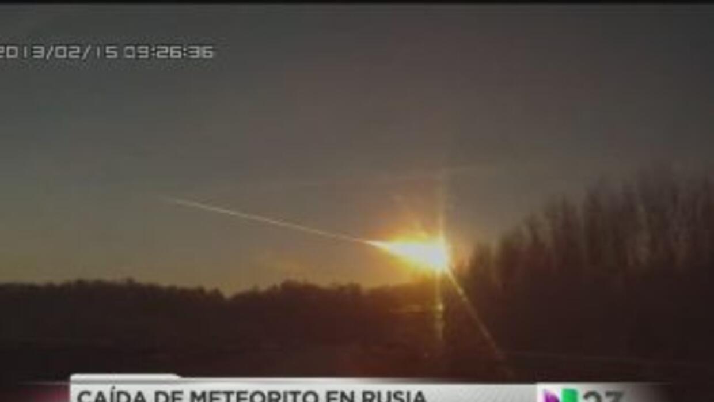 Grabaron meteorito en Rusia