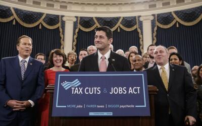 Paul Ryan insistió este jueves que la reforma de impuestos impuls...