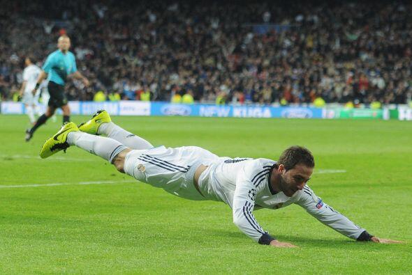 Panzazo para celebrar el tanto que pone a Madrid de cara a semifinales.