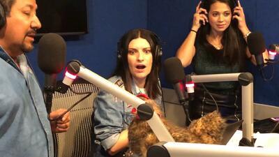 Laura Pausini le tuvo miedo a la gallina de 'El Feo'