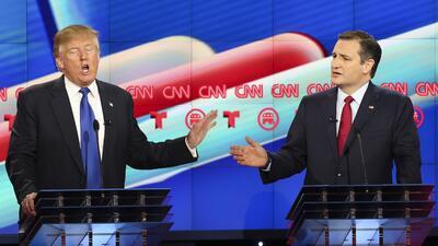 Enfrentamiento verbal entre Trump y Cruz