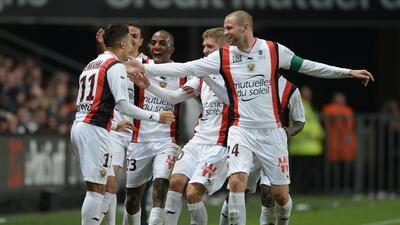Niza goleó al Rennes en el cierre de la jornada