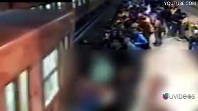 Un homicidio en el metro de la ciudad de México fue captado en video