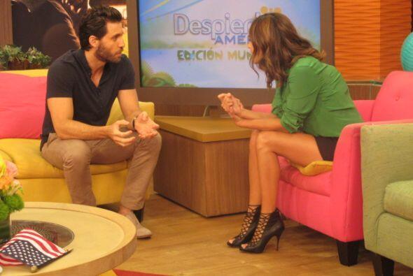 Edgar Ramírez llegó al programa a promocionar su nueva película 'Deliver...