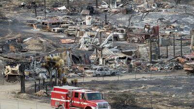 El paso del incendio 'Blue Cut Fire' en San Bernardino