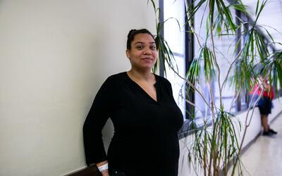 Briana Silly, quien tiene 23 semanas de embarazo, expresó preocupación p...