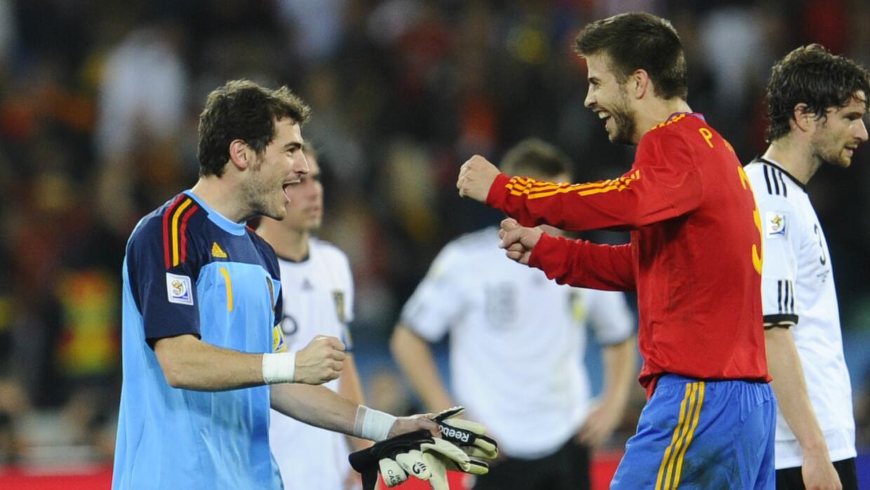 Iker Casillas y Piqué