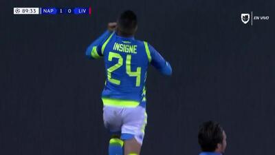 ¡GOOOL! Lorenzo Insigne anota para Napoli