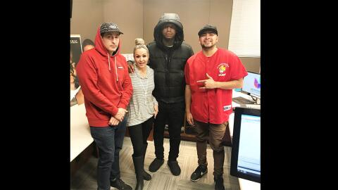 (Left to right:) DJ Automatic, Dana Cortez, Moneybagg Yo and Anthony A....