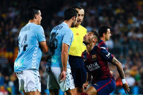 Milan pudo ver como Neymar se peleaba con los jugadores del Eibar.
