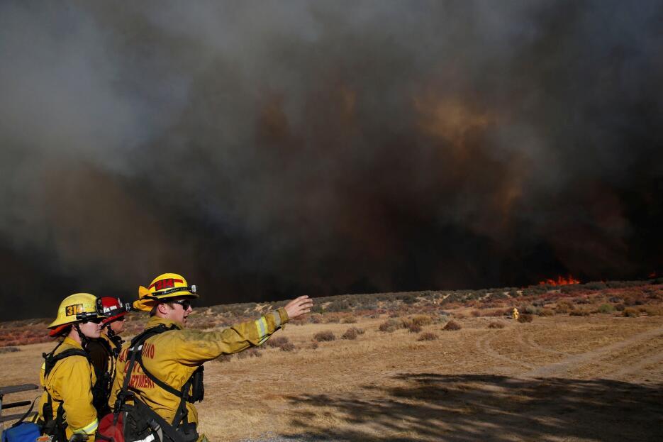 Incendio 'Pilot' en el condado de San Bernardino