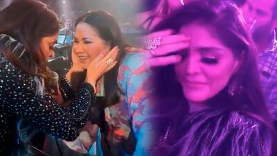 En video: el espontáneo gesto de Ana Gabriel que hizo llorar a Ana Bárbara en pleno concierto
