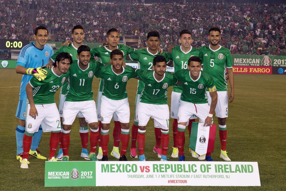 Jugadores México vs Irlanda