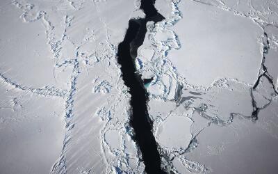 El iceberg de más de 3,600 millas cuadradas se desprendió...