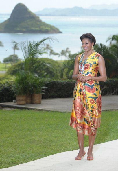 Entre los 'prints' que tanto ama Michelle Obama se encuentran los florales.
