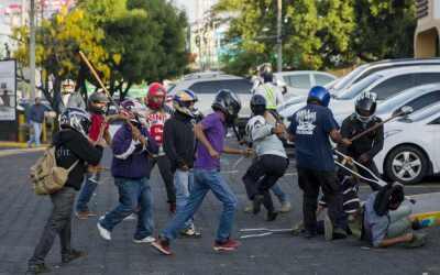 Fuerzas de choque sandinistas agredieron a los manifestantes que protest...