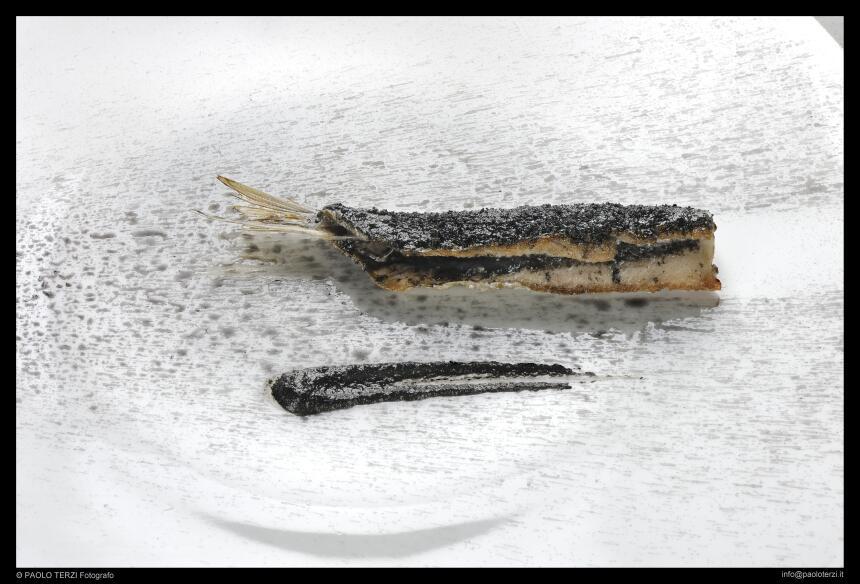 """""""Sardina quemada"""", Osteria Francescana, Italia"""