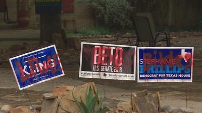 Policía de New Braunfels investiga actos vandálicos contra anuncios de candidatos demócratas