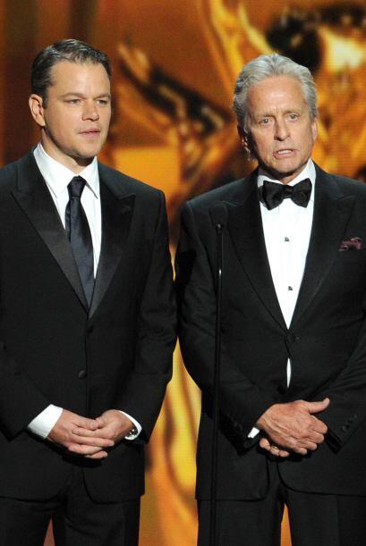 Matt Damon y Michael Douglas presentaron la categoría de Mejor actriz en...