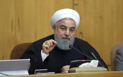 El presidente Hassan Rouhani habla durante una reunión con su gabinete e...