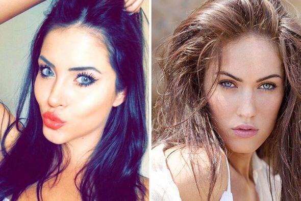No están viendo doble, ni tampoco es la hermana gemela de Megan Fox, aun...