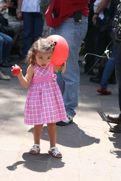 Pablo Montero compartió con su hija Carito en la Plaza de Coyoacán, dond...