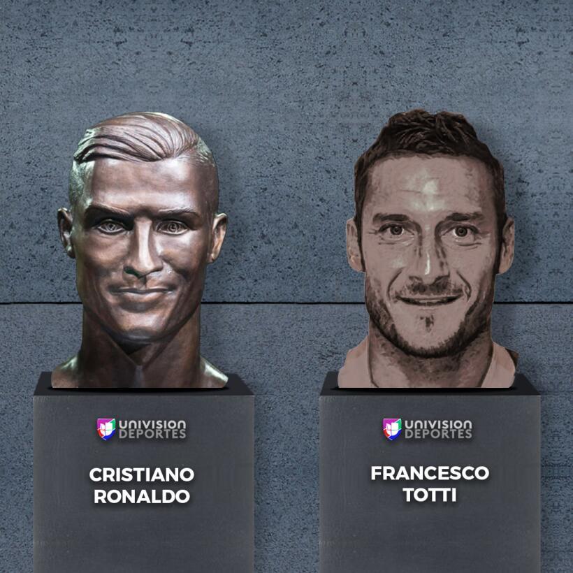 El nuevo busto de Cristiano no se salvó de los divertidos memes totti.jpg