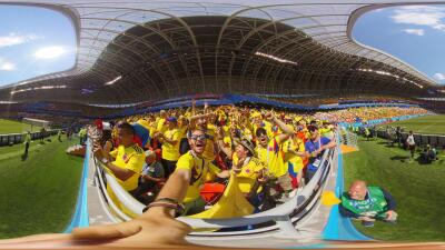 Video viral lo delata: colombiano fue despedido por ingresar licor a un estadio del Mundial