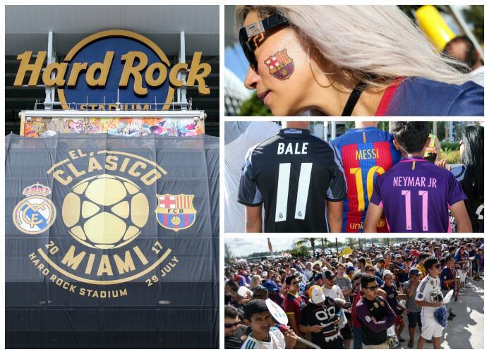 Buen ambiente en el Hard Rock Stadium para vivir el Clásico  Clasico.jpg