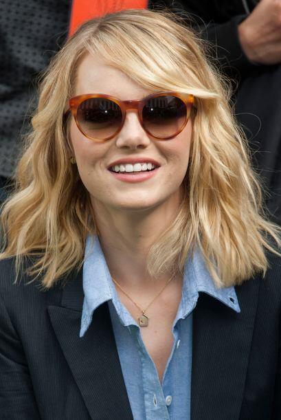 Emma Stone, siempre moderna y sencilla.