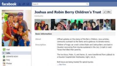 Los familiares de los Berry han creado una página en Facebook para canal...