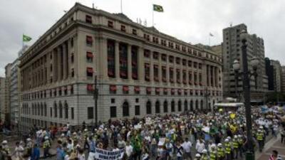Sao Paulo ha sido sede de varias protestas en las últimas fechas.
