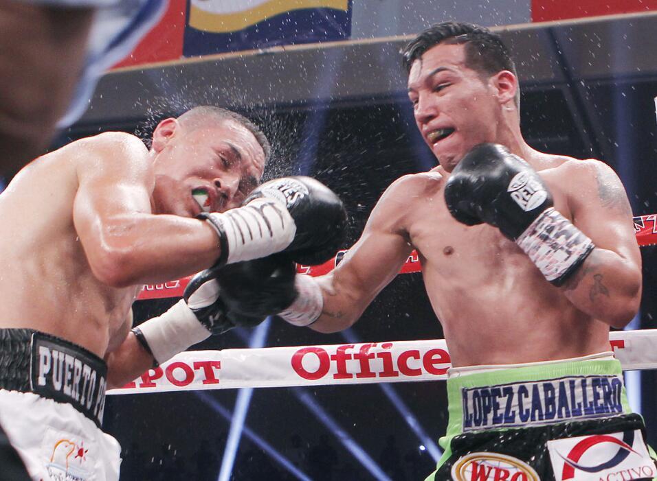Juan Francisco 'Gallo' Estrada tiró 7 veces a Hernán 'Tyson' Márquez TYS...