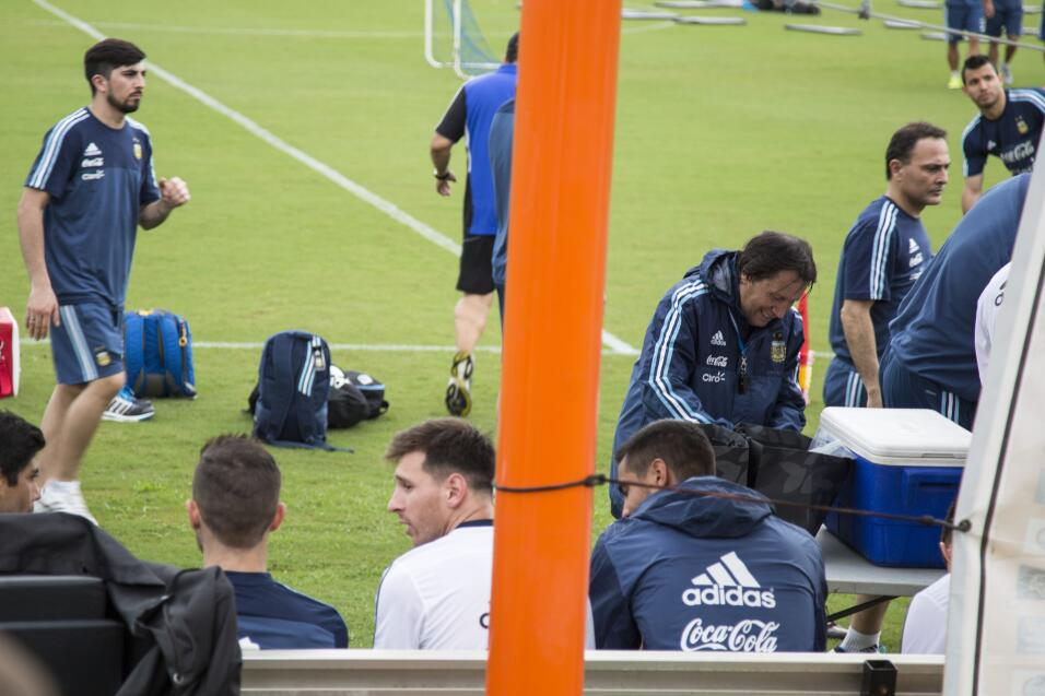 Práctica de la selección de futbol de Argentina