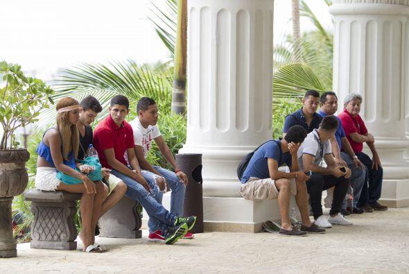 Los jugadores a la espera de resolver su futuro en Cancún.