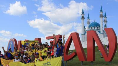 En fotos: Invasión de colombianos en Kazán gozaron la fiesta mundialista
