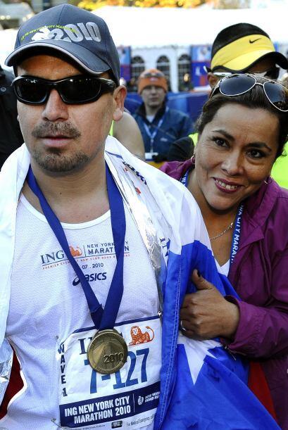 El minero recalcó repetidamente que completar el maratón era para él ref...