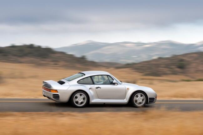 Porsche 959, con un valor estimado de 1.3 a 1.5 millones de dólares.