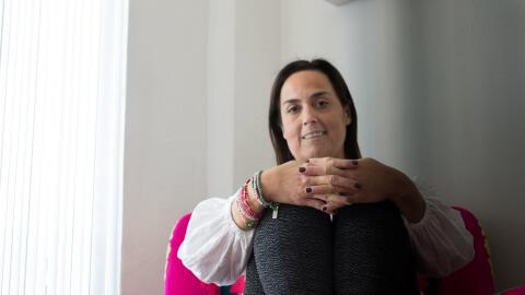 Desde hace casi tres años, María Margarita vive con dos pu...