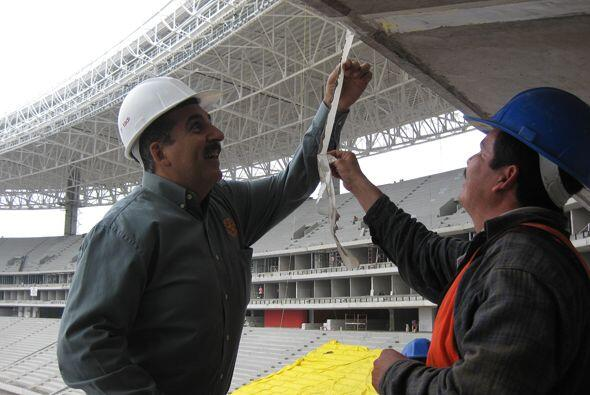 El estadio necesitaba la aprobación presidencial...