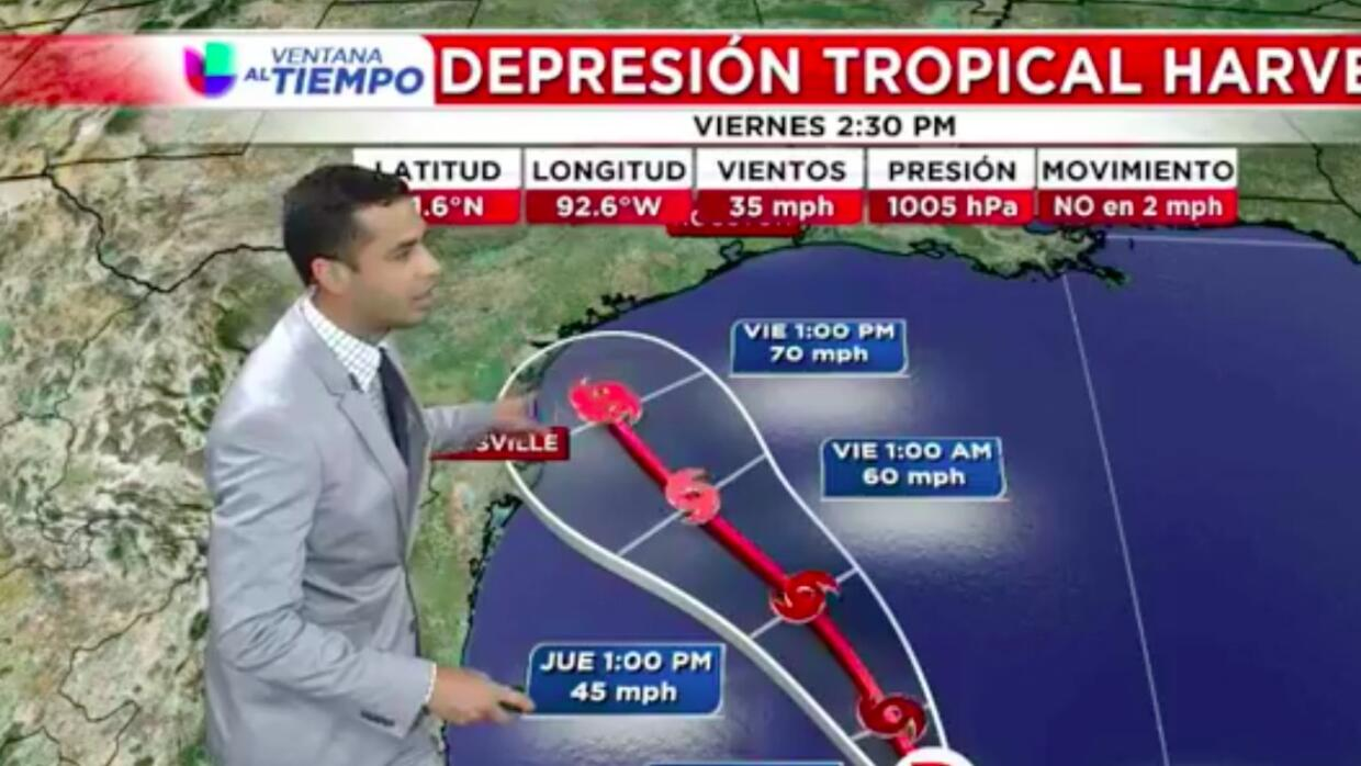 Esto es lo que se espera del disturbio tropical Harvey